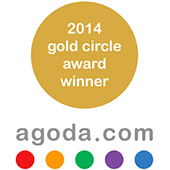 """2014 Gold Circle Award"" from Agoda.com"
