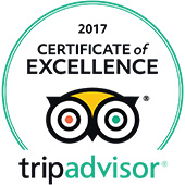 TripAdvisor® Certificate of Excellence 2017